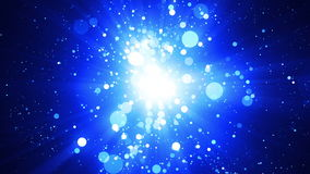 Blaue Partikel-abstrakter Hintergrund stock video