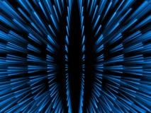 Blaue Partikel der blauen Fantasie in der globalen Anordnung Stockbild