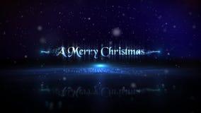 Blaue Partikel-frohe Weihnacht-guten Rutsch ins Neue Jahr-Schleife lizenzfreie abbildung