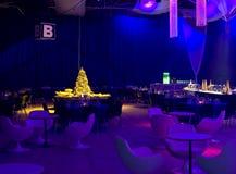 Blaue Partybeleuchtung Stockbilder