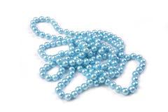 Blaue Perlen Stockfoto