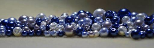 Blaue Perlen Stockbilder