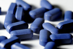 Blaue Pillen Lizenzfreie Stockfotografie