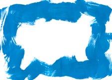 Blaue Pinselstrichgrenze Stockfotografie