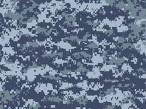 Blaue Pixeltarnung Lizenzfreies Stockbild