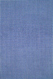 Blaue Plaidseite aufgeteiltes Longlinegewebe für den Hintergrund Lizenzfreie Stockfotos
