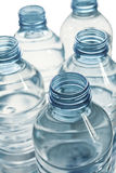 Blaue Plastikflaschen Stockfotografie