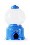 Blaue Plastikleere Süßigkeitsminiaturmaschine Stockfoto