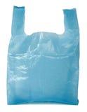 Blaue Plastiktasche Lizenzfreies Stockfoto