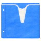 Blaue Plattenhülse lizenzfreie stockfotos