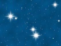 Blaue Platzgalaxie und -sterne Lizenzfreie Stockfotografie