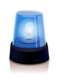 Blaue Polizei erleuchtet Stockbild