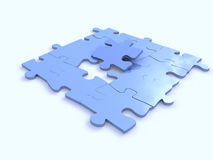 Blaue Puzzlespiele Stockbild