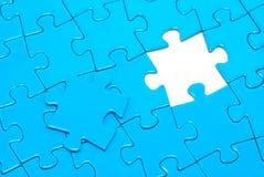 Blaue Puzzlespiele Lizenzfreies Stockbild