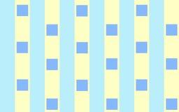 Blaue Quadrate auf Streifen Stockbild