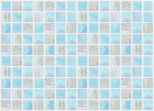Blaue quadratische Fliesen mit verschiedenem Effektmarmor Lizenzfreie Stockfotografie