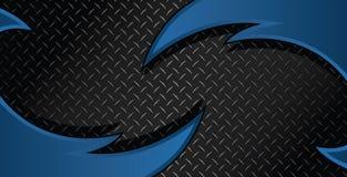 Blaue Rasiermesser-Diamond Plate Textured Vector Background-Illustration lizenzfreie stockbilder