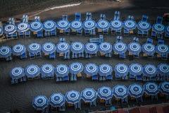 Blaue Regenschirme Lizenzfreie Stockfotografie