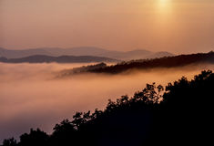 Blaue Ridge Mountains Appalachian Mountains-Strecke stockbilder