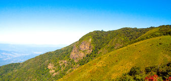 Blaue Ridge Parkway Appalachian Mountains Scenic-Natur-Landschaft stockbild