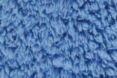 Blaue Rohbaumwollebeschaffenheit für Muster und Hintergrund Lizenzfreies Stockfoto