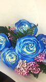 Blaue Rosen Stockfoto
