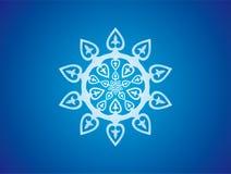 Blaue Rosette, Schneeflocke Lizenzfreie Stockfotografie