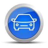 Blaue runde Knopfillustration der Autoikone lizenzfreie abbildung
