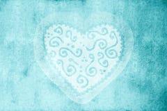 Blaue rustikale Hochzeitskarte Lizenzfreies Stockfoto