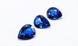 Blaue Saphire stockbilder