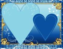 Blaue Schablone Stockbild