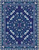 Blaue Schablone für Teppich stock abbildung