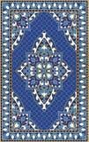 Blaue Schablone für Teppich lizenzfreie abbildung