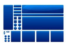 Blaue Schablonen-Elemente Lizenzfreie Stockfotografie