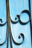 blaue Scharniere in Afrika das Fassadenhaus und Stockbilder