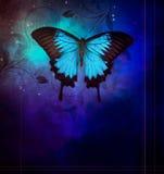 Blaue Schmetterlinge auf darkbackground Stockfoto