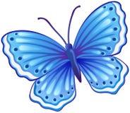 Blaue Schmetterlingsillustration Stock Abbildung