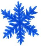 Blaue Schneeflocke Stockfotografie
