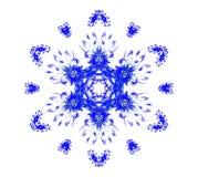Blaue Schneeflocke auf Weiß Stockbilder