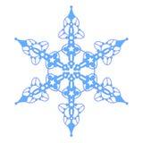 Blaue Schneeflocke mit Sternen Stockfotografie
