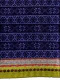 Blaue Schneeflocke-Strickjacke Stockfoto