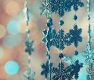 Blaue Schneeflocken Stockbilder