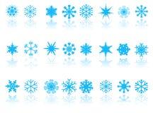 Blaue Schneeflocken Lizenzfreies Stockfoto