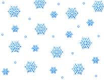 Blaue Schneesterne stock abbildung