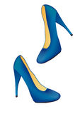 Blaue Schuhe vektor abbildung