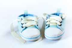 Blaue Schuhe Lizenzfreie Stockbilder