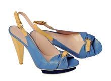 Blaue Schuhe Stockbild