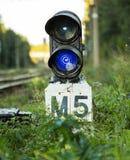Blaue Semaphorlichter Lizenzfreies Stockfoto