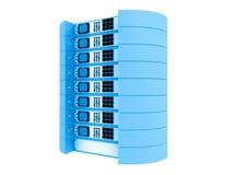 Blaue Servers 3d Stock Abbildung