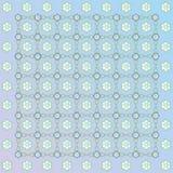 Blaue Serviette mit einer Verzierung von den Farben Lizenzfreie Stockfotografie